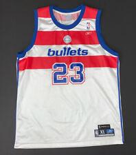 Vintage Reebok Michael Jordan Washington Bullets White Jersey Size XL