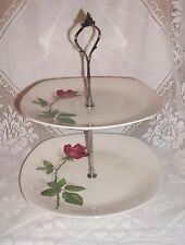 MIDWINTER FASHION ROSE VINTAGE TWO TIERED CAKE STAND