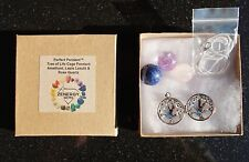 Tree of Life Amethyst/Lapis Lazuli/Rose Quartz Crystal Sphere Pendants + Chain