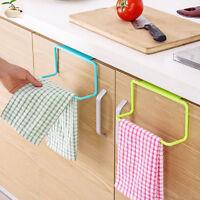 Over Door Towel Rack Bar Hanging Holder Bathroom Kitchen Cabinet Shelf Rack Hot