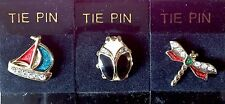 Vintage Enamel & Diamante Tie Pin - Choice of 3