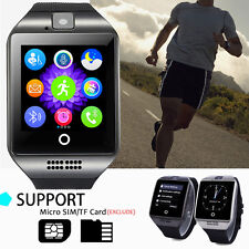 Q18 Curved Screen Smart Wrist Watch GSM Phone SIM Card Slot For iOS Android