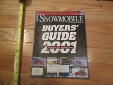 Snowmobile Magazine buyers guide 2001 Arctic Cat Polaris Ski Doo Yamaha