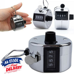 4 Digit High Quality Number Clicker Tally Counter Hand Held Manual Sale