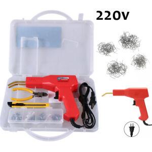 220V Car Bumper Staple Plastic Welding Gun Torch Weld Dashboard Repair Tool Kit