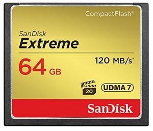 SanDisk 32GB 64GB 128G CF Extreme 120MB/s Compact Flash Memory Card SDCFXSB