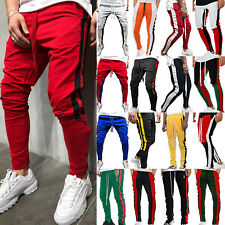 09b6bcf5d8c7 Men Track Pants Skinny Casual Sports Jogging Bottoms Joggers Gym Sweats  Trousers