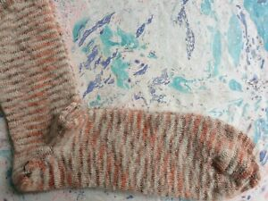 YMC You Must Create X Corgi Mens Socks Mohair & Cotton Melange Orange Large 9-11