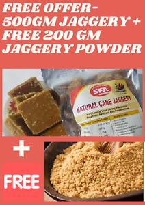 Jaggery Sugar cane jaggery 500 gm  Free Offer - Get 200 gm jaggery powder free