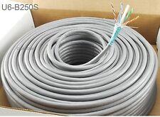 250ft CablesOnline CAT6e Shielded RJ45 STP Solid Copper Grey Ethernet Bulk Cable