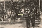 WWII Era Soviet Russian Photo *A Walk In The Park* Red Army Officers Smoke a32
