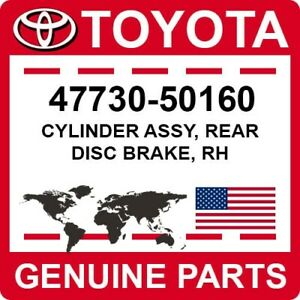 47730-50160 Toyota OEM Genuine CYLINDER ASSY, REAR DISC BRAKE, RH