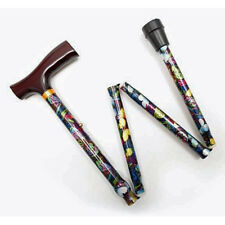 "WALKING STICKS  - ""BEAUTIFUL BUTTERFLIES"" ADJUSTABLE HEIGHT FOLDING CANE"