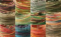 1mm Color Gradient Twisted HEMP Rustic Cord Craft Jewelry Tribal String 5-50m