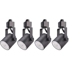 4 PACK LED DIMMABLE ROUND TRACK HEAD, H-TYPE INTEGRATED TRACK HEAD ONLY