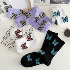 Fashion Casual Girls Butterfly Medium Socks Middle Tube Cotton Harajuku Sock