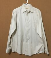 DONNA KARAN SIGNATURE Men's Dress Shirt Button Front LS Size 16 1/2 x 34-35
