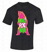 Cali For Nia Bear T-SHIRT California Republic Retro State Roar Colorful Shirt