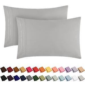 Mellanni Pillowcase Set 1800 Collection Microfiber, Fade Resistant - 30+ Colors