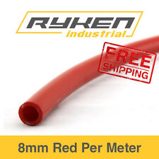 8mm Hose Flexible - Nylon - Red / Tube - Pneumatic Air Line / Per Meter