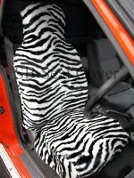 i - TO FIT A MINI CLUBMAN CAR, S/ COVERS, 2 FRONTS, ZEBRA FAUX FUR