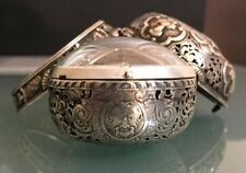 SILVER REPEATER PAIR CASE REPOUSSE VERGE FUSEE URBAIN CHENEVIERE POCKET WATCH -