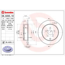 Bremsscheibe (2 Stück) COATED DISC LINE - Brembo 08.A335.11