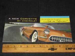 1956 Chevrolet Corvette Car Folder Dealer Sales Brochure