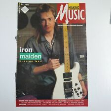 More details for large vintage 28x41cm magazine front cover cutting dave murray iron maiden