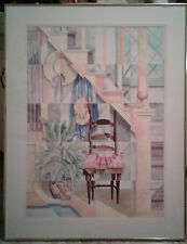Listed Artist Elinor Sethman Original Watercolor Painting Signed Abstract