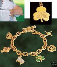 Irish Blessing Charm Bracelet   - Franklin Mint - New