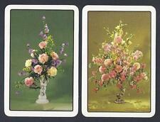 #930.153 vintage swap card -NEAR MINTpair- Vases with flower arrangements