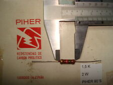 VINTAGE PIHER RESISTOR. 2W 1K5 1.5K 5% *1 PC* NEW ORIGINAL 1990´S