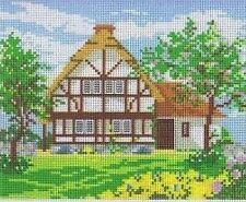 Chaumière et jardin (1) TAPISSERIE / needlepoint canvas