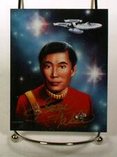 George Takei  signed 4x5  photo w/coa Star Trek