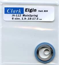 "Elgin 6 size Mainspring JA-112  Factory # 824  DBH ""CLARK"""