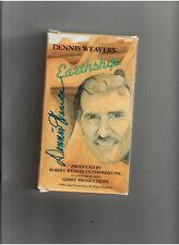 DENNIS WEAVER EARTHSHIP VHS GENUINE HAND-SIGNED AUTOGRAPH NEVER PLAYED RARE OOP