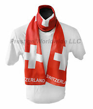 Swiss Flag Print Scarf *NEW* One-Size-Fits-All Gift Switzerland Knife Watch L@@K