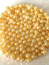 4mm Glass faux Pearls strand - Champagne Gold (over 200 beads) craft