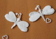 Coppia pizzo macramè per  Creare orecchini  colore bianco 5.4*4cm forma farfalla