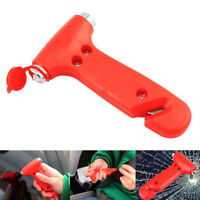 2 in 1 Car Safety Hammer Life Saving Escape Emergency Hammer Seat Belt Cutter JR