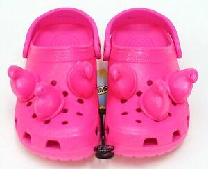 NEW Peeps X Crocs Pink Marshmallow Peeps Classic Clog Slip On Shoe Sandal