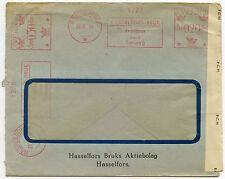 SWEDEN METER FRANKING ADVERTISING 1945 WW2 GB CENSOR on WINDOW ENVELOPE 28 JUNE