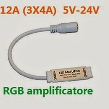 3x AMPLIFICATORE DI SEGNALE PER STRISCIA LED RGB 3528 5050 12V 3x4A 12A 5V-24V