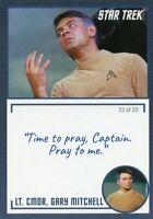 Star Trek TOS Archives & Inscriptions card 13 LT CMDR Gary Mitchell Var 23 of 23