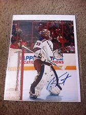 Cam Talbot Autographed 8x10 Photo NY Rangers Edmontan Oilers  PROOF