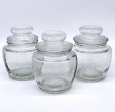 Farberware 8 Oz Glass Storage Jars Canisters with Airtight Lids (3 Pack)