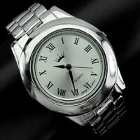 VIDEO! CLASSIC SOLID 925 STERLING SILVER MEN'S JEWELRY WRIST WATCH WITH BRACELET