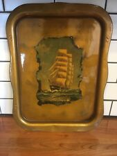 Nautical Pirate Ship Tea Tray Boat Theme Vintage Decour Platter