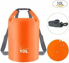 3PK 10L Orange Waterproof Dry Bag Backpack Storage Bag Floating Boating Kayaking